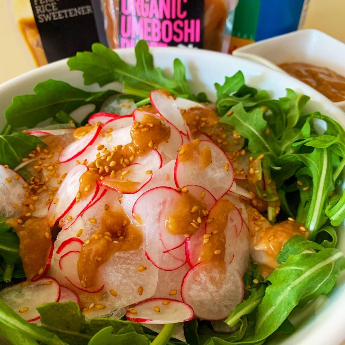 Daikon Radish Salad with Umeboshi Amazake Dressing