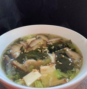Wakame Tofu Shiitake Soup
